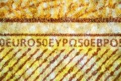 50 euros close-up. The Microscopic World Royalty Free Stock Photos