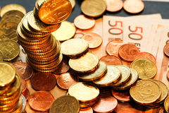 Euros coins Royalty Free Stock Photography