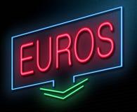 Euros concept. Stock Image
