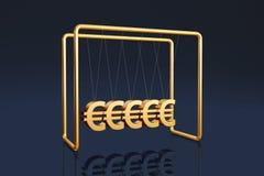 Euros cradle Royalty Free Stock Photo