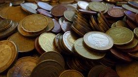 Euros d'argent Photo libre de droits