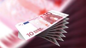Euros stock video footage