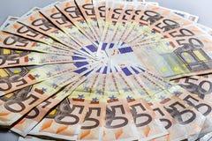 Euros de billets de banque Photos libres de droits