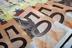 Euros de billets de banque Photographie stock libre de droits