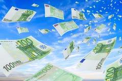 Euros de hausse. Photos stock