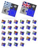 Euros de l'Europe de puzzle et d'économies Photographie stock libre de droits