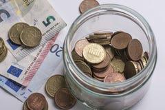 Euros de los ahorros Imagenes de archivo