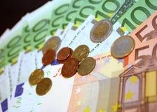 Euros del ventilador fotos de archivo