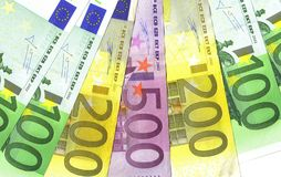 Euros detail Stock Images