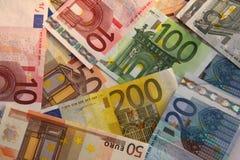Euros - dinero en circulación europeo Fotografía de archivo libre de regalías