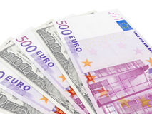 Euros and Dollars Stock Photography