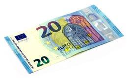 20 Euros eine neue Version! Stockbild