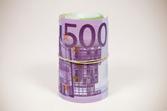 Euros. Euro Notes Roll Photo (with clipping path Royalty Free Stock Photo