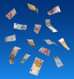 Euros floating in air Royalty Free Stock Images