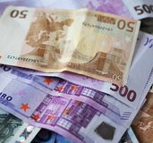 Euros,good background for business concept. Euros - good background for business concept Royalty Free Stock Images