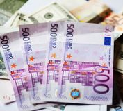 Euros,good background for business concept. Euros - good background for business concept Royalty Free Stock Image