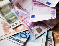 Euros, good background for business concept. Euros - good background for business concept Stock Image