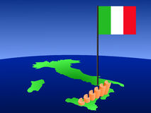 Euros graph on Italy map stock illustration