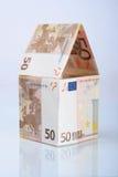 euros house gjord reflexion Royaltyfria Bilder