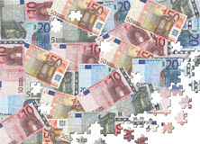 Euros jigsaw background Stock Image