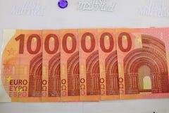 1 euros miljon Royaltyfri Fotografi