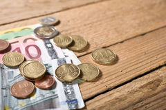 Euros Money Fotografie Stock
