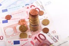 Euros Money Foto de archivo libre de regalías