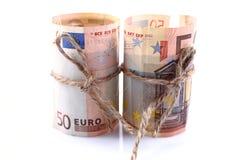 Euros Money Imagen de archivo libre de regalías