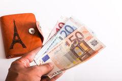 Euros Money Royaltyfri Bild