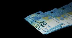 Euros Money Falling,. Slow motion 4K stock video