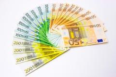 Euros. Money lined like a fan,photography Stock Photos