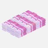 Euros money stack. 500 Euros money stack. Flat design, vector illustration Royalty Free Stock Images