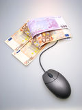 Euros and mouse Royalty Free Stock Image