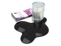 Euros and Oil Stock Photo