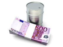 Euros and Oil Stock Image