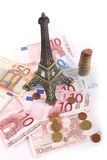 Euros, París fotografía de archivo libre de regalías