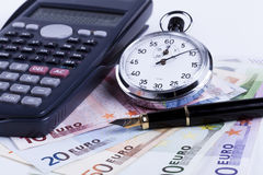 Euros and Pen Royalty Free Stock Image