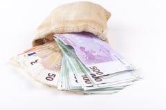Euros Pouring Photo libre de droits