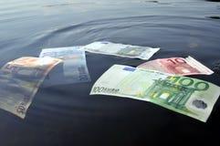 Euros subacuáticos Fotografía de archivo libre de regalías