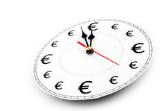 Euros time is money Stock Images