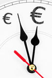 Euros time is money Royalty Free Stock Photo