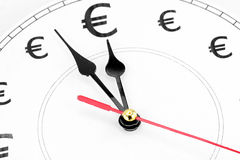 Euros time is money Stock Image
