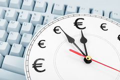 Euros time is money Royalty Free Stock Image