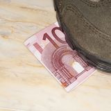 Euros trampled Royalty Free Stock Photo