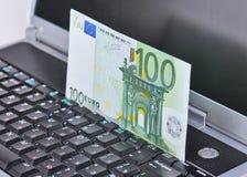 Euros Transfer Immagini Stock Libere da Diritti