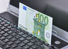 Euros Transfer Royalty Free Stock Images