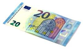 20 euros una nueva versión Fotografía de archivo libre de regalías