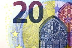 20 euros una nueva versión Imagen de archivo libre de regalías