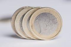 Euros usados Foto de archivo libre de regalías
