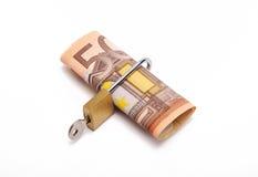 Euros verrouillés Images stock